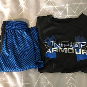 Kid's under armour athletic set